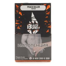Табак Burn Black - Peach killer (Персик, 100 грамм)