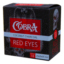 Уголь Cobra - Red Eyes (25 мм, 18 кубиков)