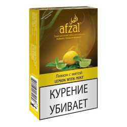 Табак Afzal - Lemon Mint (Лимон и Мята, 50 грамм)