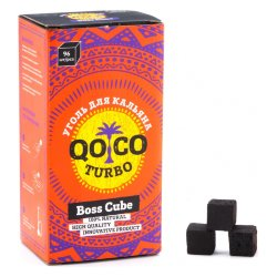 Уголь Qo Coco Turbo Boss Cube (22x22x22 мм, 96 кубиков)