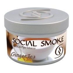 Табак Social Smoke - Ginger Tea (Имбирный Чай, 250 грамм)