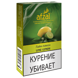 Табак Afzal - Lime Lemon (Лимон и Лайм, 40 грамм)